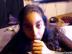 Pov Horny Teen Sucks Big Black Cock On Webcam