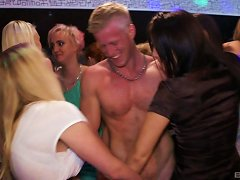 Naughty Babes Get Fingered Then Fucked In A Out Of Control Orgy At The Club
