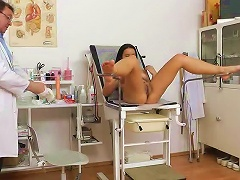 Young Brunette Babe Lily At The Doctor