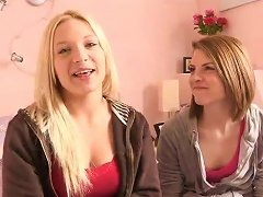 Teen Lesbians Warming Up For A Sexy Day
