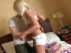 Lovely Blonde Gets Her Tight Asshole Fucked