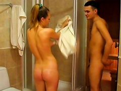 Sexy Couple Is Fucking In The Bathroom