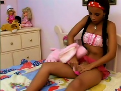 Exotic Teen With Pigtailed Braids Getting Her  Fucked