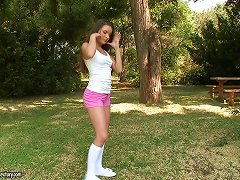 Hot Outdoors Anal Sex With A Sweet Teen In Knee High Socks