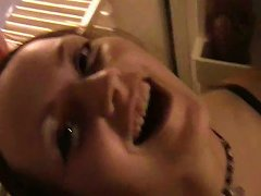 Cute Teen Girlfriend Lets Her Partner Film Her Topless At Home