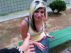 Nasty Picked Up Chick Tabitha Ann Is Going To Give Her Head
