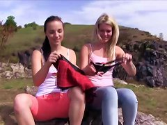 Outdoor Lesbian Scenes With Claudia M And Kristy Black