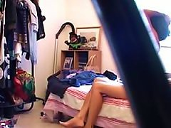 Beautiful Brunette Teen Caught Totally Naked By A Voyeur Hidden Cam