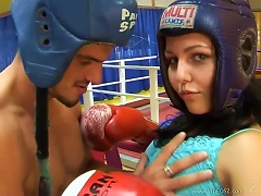 Peggy Fucking And Getting A  In The Boxing Ring