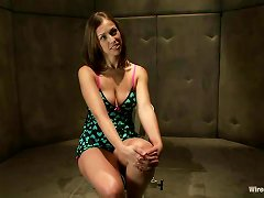 Crazy Brunette Siren Wires Audrey And Makes Her Feel Charged