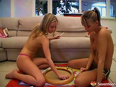 Am Sure You Want To See How These Kinky Lesbians Play With Their Moist Muffs