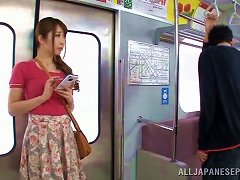 Naughty Asian Milf Sucks A Guy's Cock In The Train Ride Home