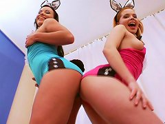 Anal Toying Sluts With Bunny Ears Stick A Pound Of Carrots In The Ass