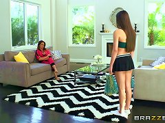 Teen Lesbian Cheerleader Gets Fucked Roughly By A Strapon