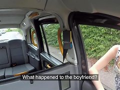 Curly Haired Teen With Small Cans Rides Her Taxi Driver