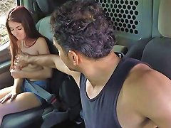 Skinny Teen Babe Sally Squirt Screwed For A Free Ride