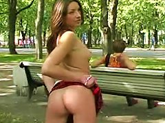 Public Park Display Of Her Teen Body