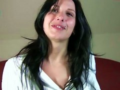 Lustful Brunette Dafne Having Sexy Beauty Spot Above Her Lips Gets Messy Facial