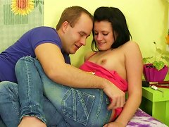 Unattractive Brunette Girl Lussy Gets Pleased In A Hot Foreplay