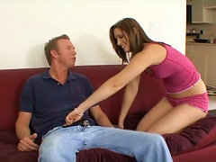 Some Passion On The Couch With A Slender Siren Brooke Logan