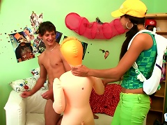 Young Brunette In Yellow Cap Is Here To Play With His Dick