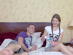 Small Virgin Stepsis Get First Fuck By Caught Step Bro
