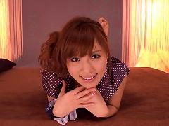 Japanese Teen Rin Sakuragi Fingers Herself And Uses A