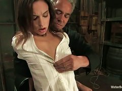 Tied Up Amber Rayne Rides A Dildo And Gets Humiliated
