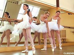 Horny Ballerinas Get Out The Toys And Fuck Each Other
