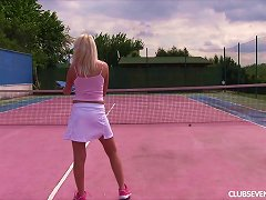 Teen Takes A Break From Tennis To Masturbate On A Bench