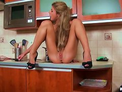 Insanely Hot Blonde Beauty Victoria Tiffani Toying Her Pussy And Ass