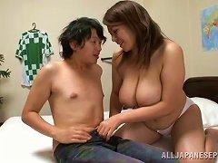 Banging Busty Japanese Mizuki Ann While Her Father Looks