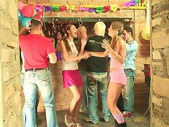 Nasty Teen Party With Alluring Babes Having A Group Sex