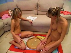 Two Horny Teens Play A Dirty Game And Get Horny