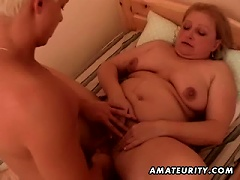 Fat Amateur Mature  Fucked By A Young Cock