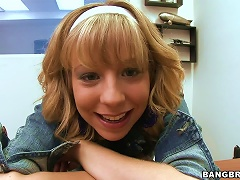 Cute-as-a-button Blonde Gets Her   Fucked In