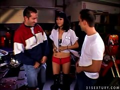 Small Boobed Minx Dana Vespoli Enjoys A Dp Threesome