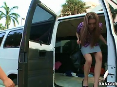 Shaved Teen Pussy Fucked In Car