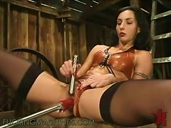 Village Horny Girl Goes Sadomaso With Herself And A Fuck Buddy