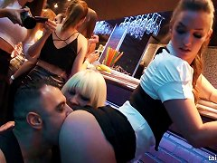 Wild Time At A Night Club With Ladies Getting Frisky