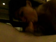 My Skanky Brunette Gf Wakes Me Up With A Thorough Blowjob
