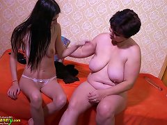 Old Mature Fat BBW Granny Chubby And Teen Lesbian Sex Toys And Fingering Masturbation