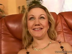 Blonde In Lingerie Gets Her Pussy Fucked By A Big Toy A Fist And A Foot