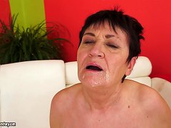 Mature Brunette Anastasia Gets Her Snatch Licked And Drilled