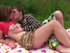 Amateur Teen Gal Bella Exposes Her Tits And Pussy In The Park Teasing Her BF