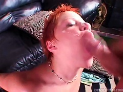 Horny Red And Short Haired Teen Gets Fucked Hard