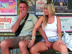 Hot Babe Woos A Man To Fuck Her In Public