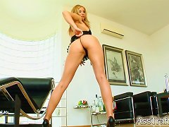 Leggy Julia Gets Double Penetrated In A Close-up Video