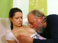 Charming Teen Irene Seduced For Sex By Horny Old Fart