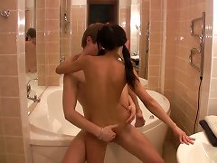 Young Couple In Bathroom